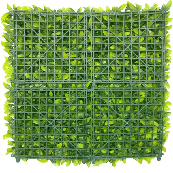 Artificial Floral Hedge Panel Faux Privacy Fence Screen