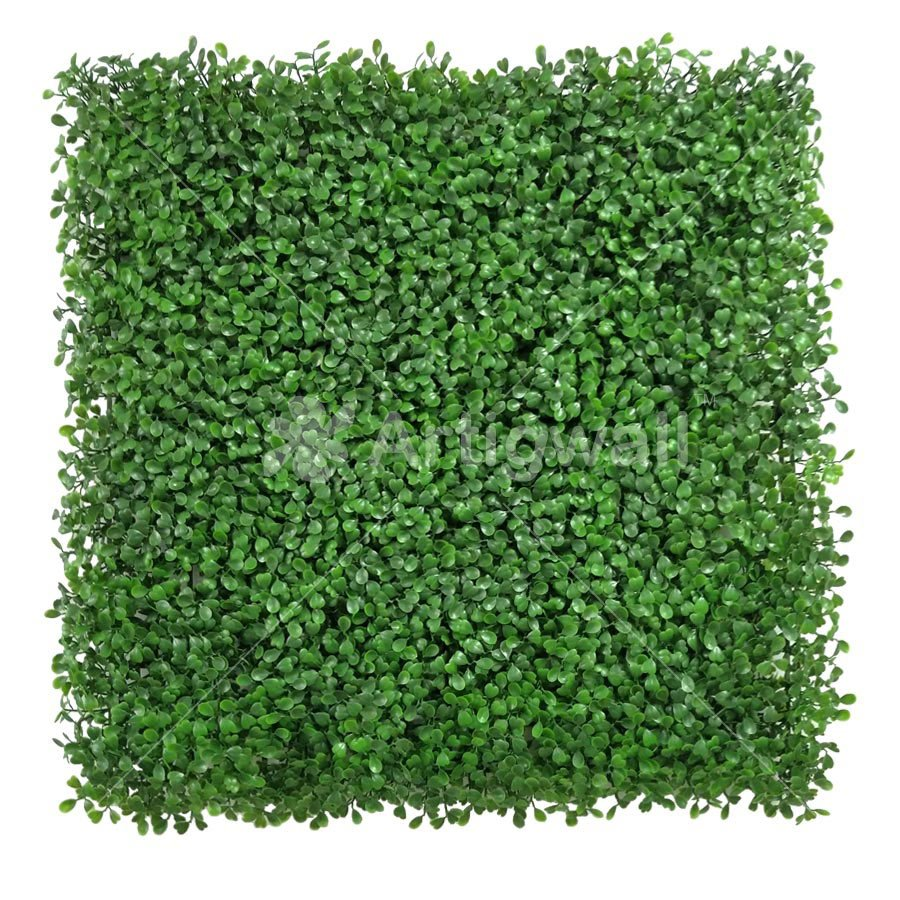 artificial boxwood light green panel