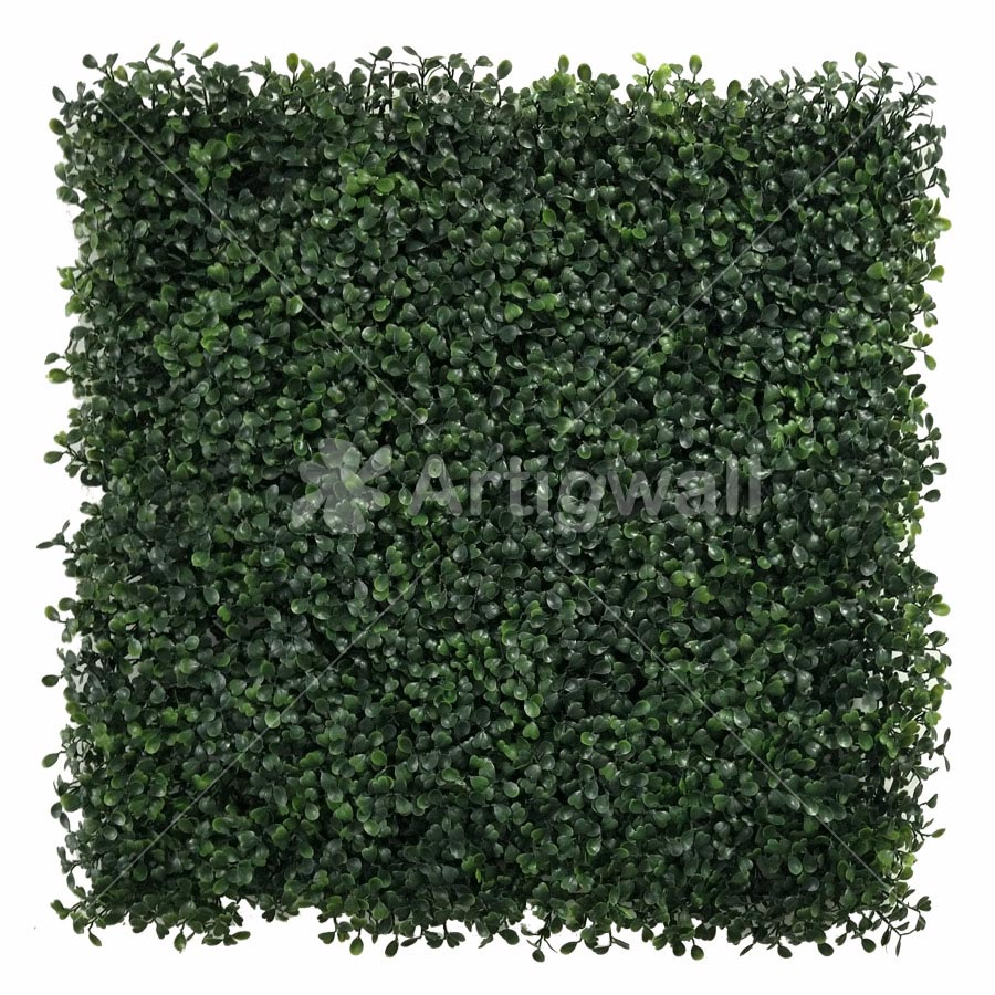 artificial boxwood panel-dark green