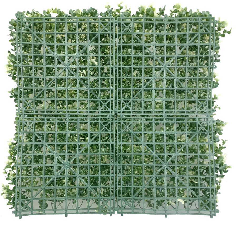Artificial Boxwood Hedge Mat Faux Boxwood Privacy Fence Screen White Color-3